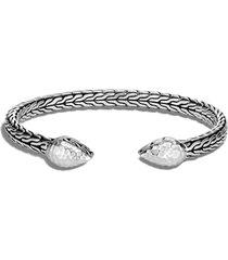 women's john hardy classic chain hammered sterling silver flex cuff bracelet