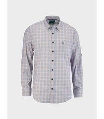 camisa cuadros manga larga para hombre 04285