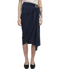 lanvin navy skirt