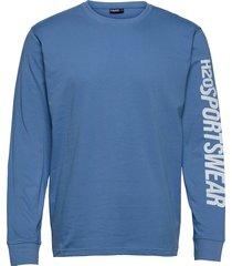 bjørnø tee l/s t-shirts long-sleeved blå h2o