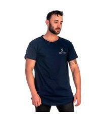 camiseta swag long ideal para o dia a dia selten azul