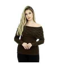 blusa tricot feminina inverno jenifer shopping do tricô cigana.