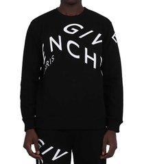 givenchy black refracted logo sweatshirt