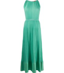 missoni micro pleated sleeveless dress - green
