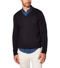 buzo wcc classic cotton v neck negro tommy hilfiger