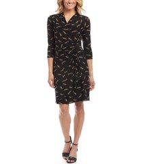 women's karen kane leopard print cascade dress