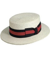 scala straw boater hat, size medium in bleach at nordstrom