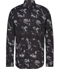 aop l/s check shirt overhemd casual zwart junk de luxe