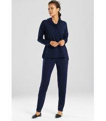 n-vious pullover top, women's, blue, size s, n natori