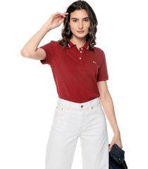 polo vinotinto-blanco tommy jeans