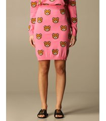 moschino couture skirt moschino couture knit skirt with all-over teddy