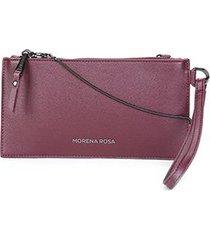 bolsa carteira morena rosa case alça metal