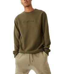 cotton on men's crew fleece t-shirt
