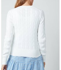 polo ralph lauren women's cardigan - white - l