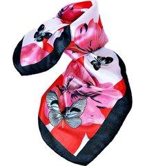 pañuelo bandana mariposas rojo viva felicia