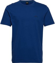 tee curved t-shirts short-sleeved blå boss