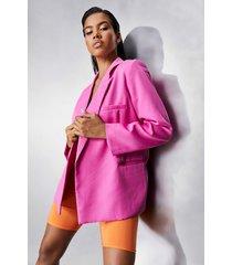 super oversized blazer, pink