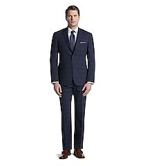 1905 collection tailored fit windowpane men's suit with brrr°® comfort - big & tall clearance by jos. a. bank