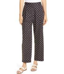 women's rosetta getty bauhaus dot print cotton poplin crop pants