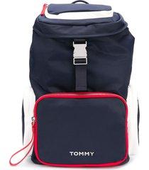 tommy hilfiger multi-pocket backpack - 0gy