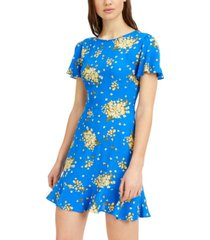 b darlin juniors' floral-print skater dress