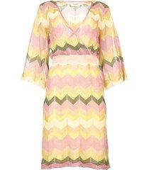 jurk met print valora  roze
