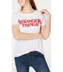 love tribe juniors' stranger things logo graphic t-shirt