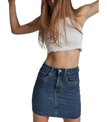 cotton on classic stretch denim mini skirt