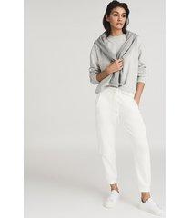 reiss brooke - relaxed loungewear sweatshirt in grey, womens, size l