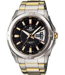 reloj casio ef_129sg_1av plateado metal