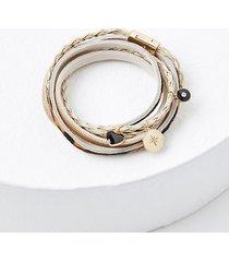 loft braided charm bracelet