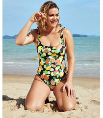 seville mindful underwire scoop neck tummy control one-piece swimsuit c-gg