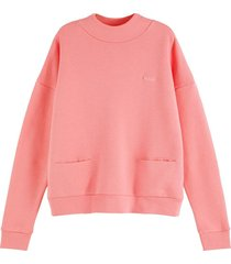 sweater high neck roze