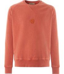 nigel cabourn logo sweatshirt vintage orange nclgsw-orn