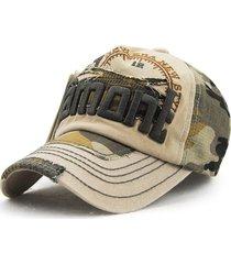 sombrero dehip-hop al aire del bordado del camuflaje