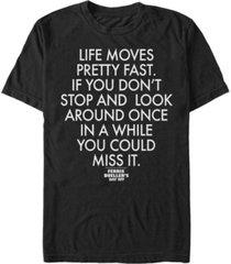 paramount men's ferris buller's day off life moves pretty fast short sleeve t-shirt
