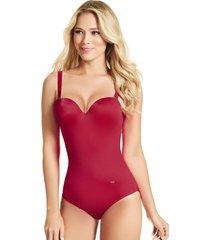 traje de baño entero haby para mujer-rojo