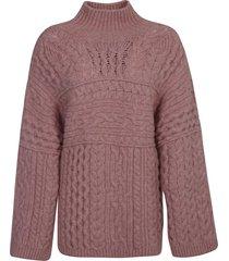 nanushka cable knit turtleneck sweater