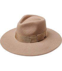 brixton joanna felted wool hat, size large in light tan at nordstrom