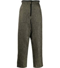 lurex striped drawstring pants