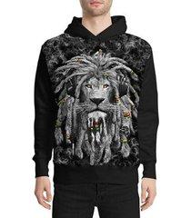moletom stompy lion reggae masculino