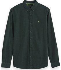 scotch & soda corduroy shirt groen