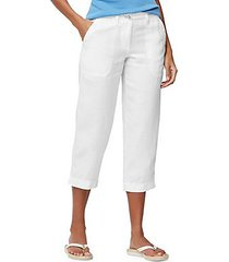 cropped zip fly pants