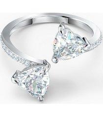anello attract soul heart, bianco, placcato rodio