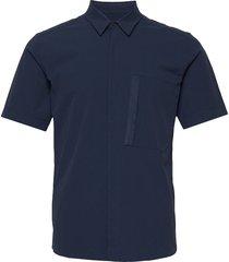 m extended ss shirt kortärmad skjorta blå peak performance