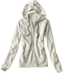 cashmere hooded sweater, grey donegal, x large