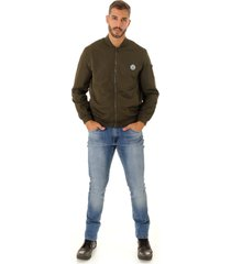 jaqueta opera rock bomber windbreak verde