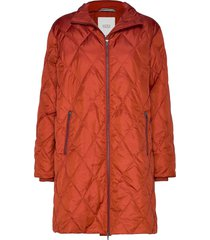 tonya coat gevoerde lange jas oranje masai