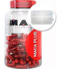 maca plus - maca peruana - 120 cápsulas + porta cápsulas transparente - max titanium