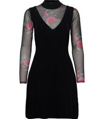 vest tokio jurk knielengte zwart desigual